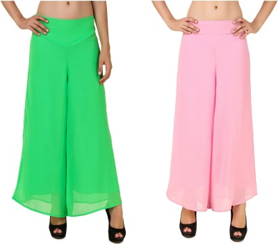 CHIKFAB Regular Fit Women's Green, Pink Trousers