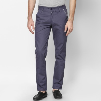 Haute Couture Slim Fit Men's Grey Trousers