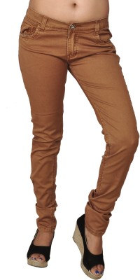 Coaster Skinny Fit Women's Brown Trousers