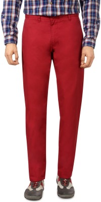 Van Heusen Slim Fit Men's Red Trousers