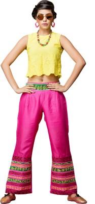 Saree Exotica Regular Fit Women's Pink Trousers