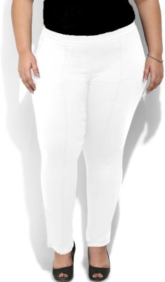Amydus Regular Fit Women's White Trousers