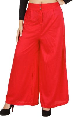 NOTYETbyus Regular Fit Women's Red Trousers