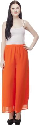 Selfie Regular Fit Women's Orange Trousers