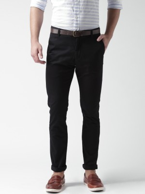 Mast & Harbour Slim Fit Men's Black Trousers