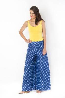 Rigoglioso Regular Fit Womens Blue Trousers
