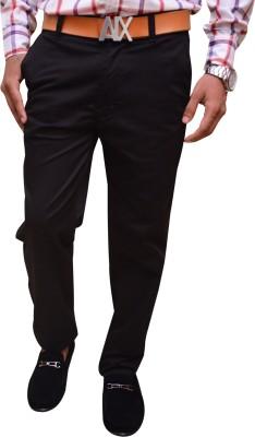 Attitude Works Regular Fit Men's Black Trousers
