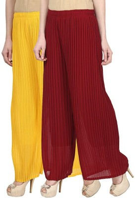 Skyline Trading Regular Fit Women's Yellow, Maroon Trousers