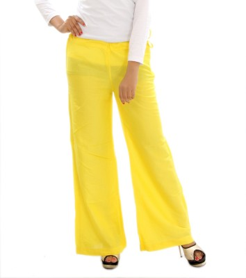 MountainColours Regular Fit Women's Yellow Trousers