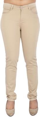 Airwalk Slim Fit Women's Beige Trousers