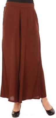 Mustard Regular Fit Women's Brown Trousers