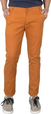 Made In The Shade Slim Fit Men's Orange Trousers