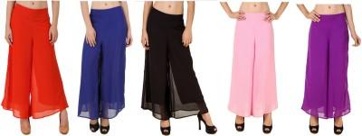 CHIKFAB Regular Fit Women's Blue, Black, Pink, Orange, Purple Trousers