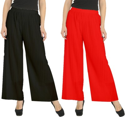 Skyline Trading Regular Fit Women's Black, Red Trousers