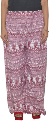 Shreeka Regular Fit Women's Maroon, White Trousers