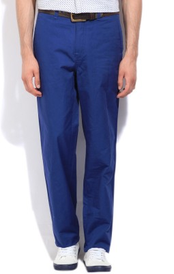 Nautica Regular Fit Men's Blue Trousers