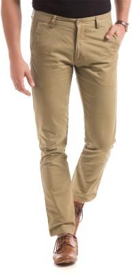 Izod Slim Fit Men's Cream Trousers