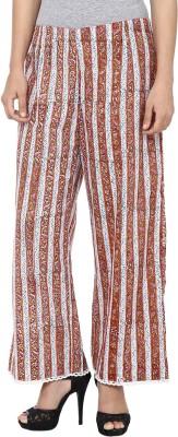 Samprada Regular Fit Women's Maroon, Grey Trousers