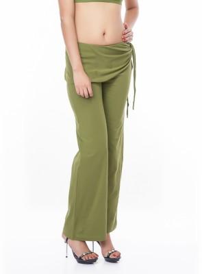 Eurodif Design Regular Fit Women's Green Trousers