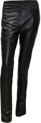 Attuendo Slim Fit Women's Black Trousers