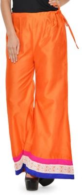 Navyou Regular Fit Women's Orange Trousers