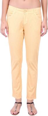 Fashion Cult Slim Fit Women,s Beige Trousers
