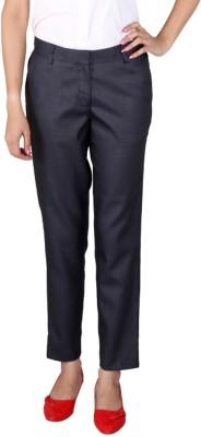 Ramarrow Slim Fit Women's Blue Trousers