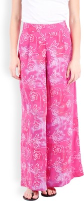 Folklore Regular Fit Women's Pink, Purple Trousers
