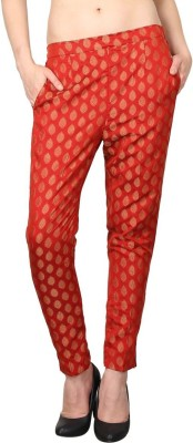 Shararat Regular Fit Women's Red Trousers