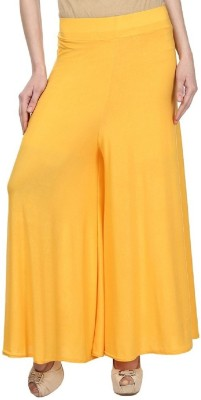 Edge Plus Regular Fit Women's Yellow Trousers