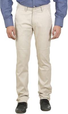 Ethzone Regular Fit Men's Cream Trousers
