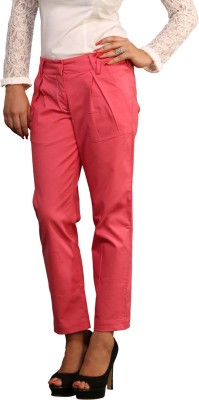 Schwof Regular Fit Women's Pink Trousers