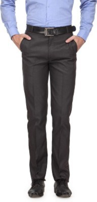 Alnik Regular Fit Men's Black, Silver Trousers