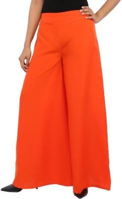 Rigoglioso Regular Fit Women's Orange Trousers