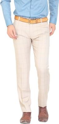 NATTG Slim Fit Men's Beige Trousers