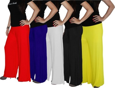 Xarans Regular Fit Women's Blue, Yellow, Black, White, Red Trousers