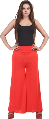 FamGlam Regular Fit Women's Red Trousers
