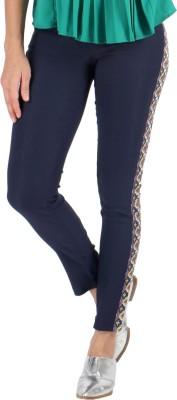 Vinegar Regular Fit Women's Blue Trousers