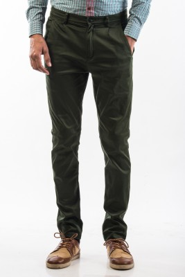 Srota Slim Fit Men's Green Trousers