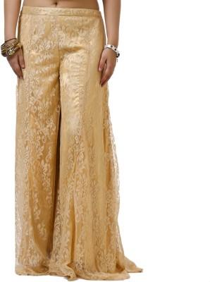 Dhavani Regular Fit Women's Gold Trousers