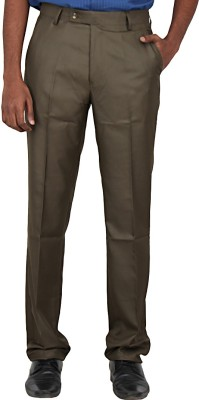 Warp & Weft Slim Fit Men's Light Green Trousers
