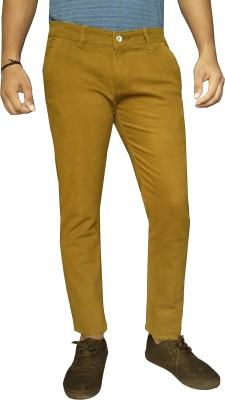 damler Slim Fit Men's Yellow Trousers