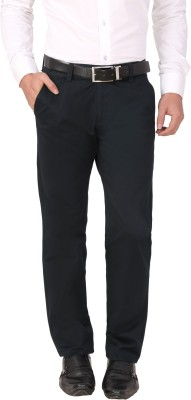 Louppee Regular Fit Men,s Dark Blue Trousers