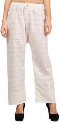 VASTRAA FUSION Regular Fit Women's White Trousers