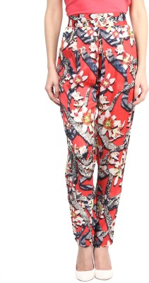 Love From India Regular Fit Women's Red Trousers
