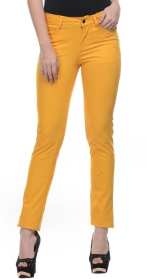 Mayra Skinny Fit Women's Yellow Trousers
