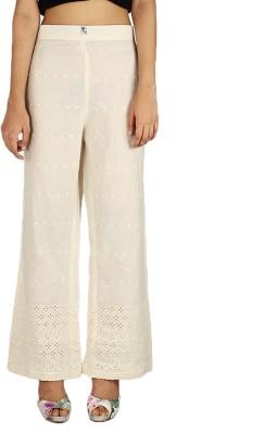 Quetzal Regular Fit Women's White Trousers