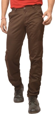 Louppee Regular Fit Men,s Brown Trousers