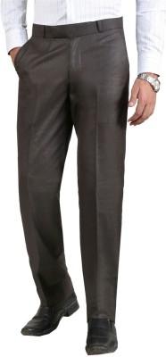 Le-Meiux Slim Fit Men's Brown Trousers