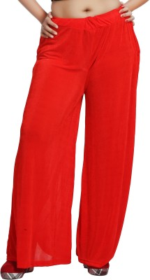 Comix Regular Fit Womens Red Trousers